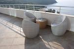 Диван,произведен от ратан за заведения за плаж и басейн