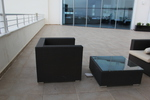 Екзотични маси и столове от черен ратан