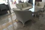 Мебели сепарета от ратан за заведения