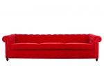 Диван Chesterfield в червено