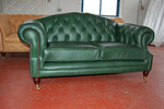 Диван Chesterfield в зелено