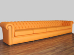 Диван Chesterfield в оранжев цвят