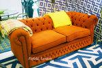 оранжеви луксозни Дивани Chesterfield